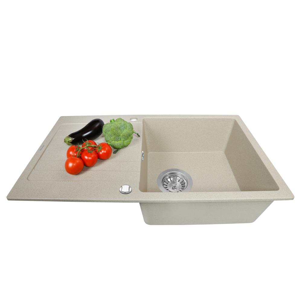 Granite kitchen sink Perfelli VILLA PGV 114-86 SAND