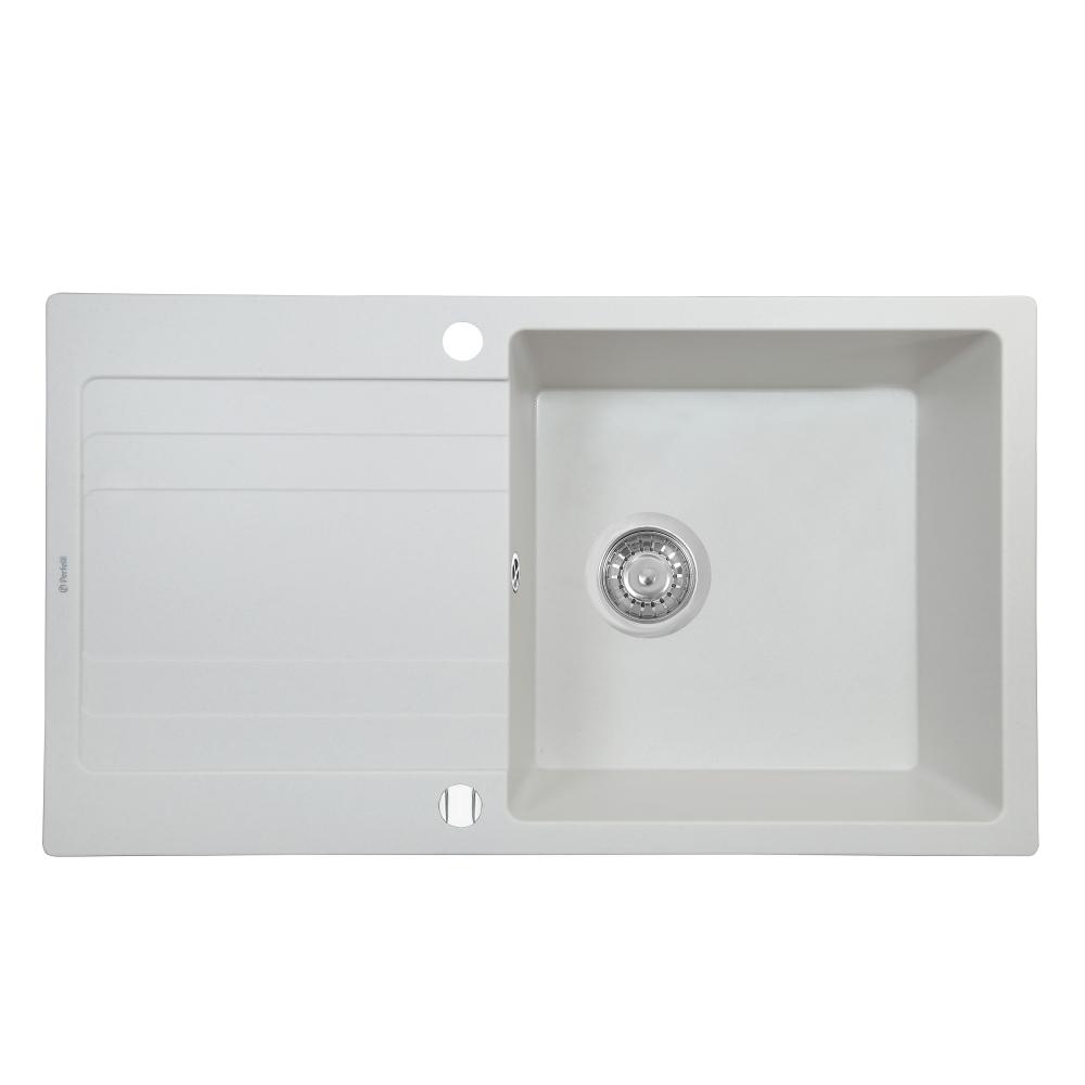 Мийка кухонна гранітна  Perfelli VILLA PGV 114-86 WHITE
