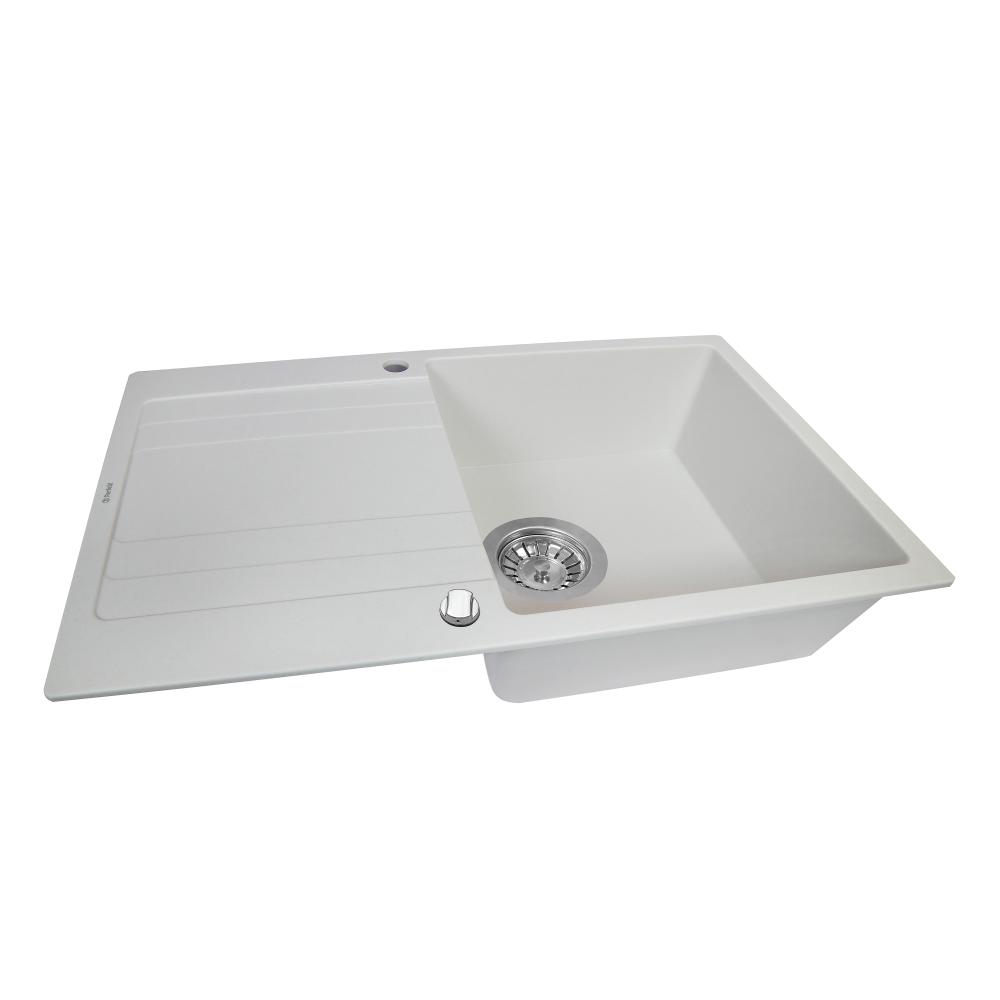 Granite kitchen sink Perfelli VILLA PGV 114-86 WHITE