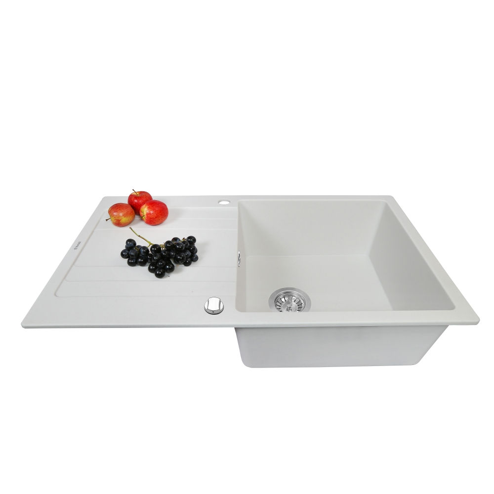 Мойка кухонная гранитная  Perfelli VILLA PGV 114-86 WHITE