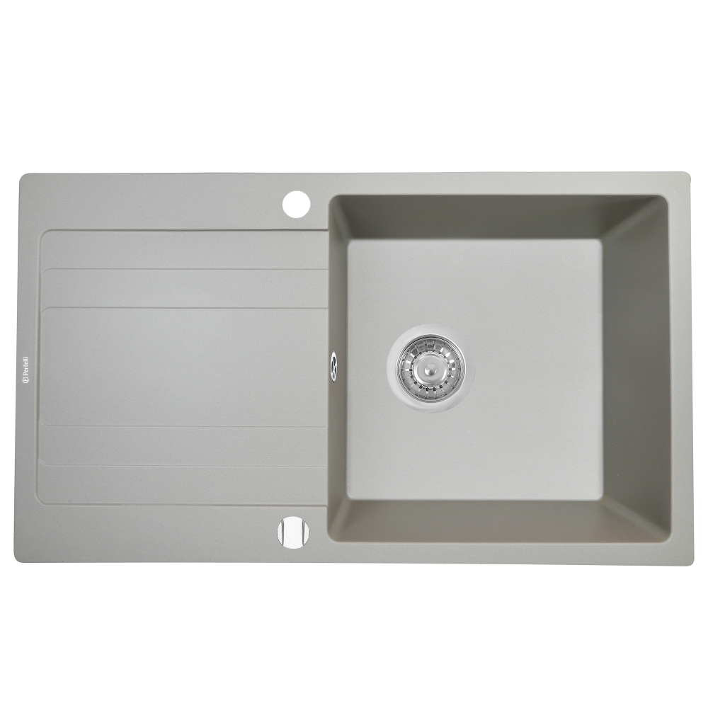 Мийка кухонна гранітна  Perfelli VILLA PGV 1141-86 GREY METALLIC
