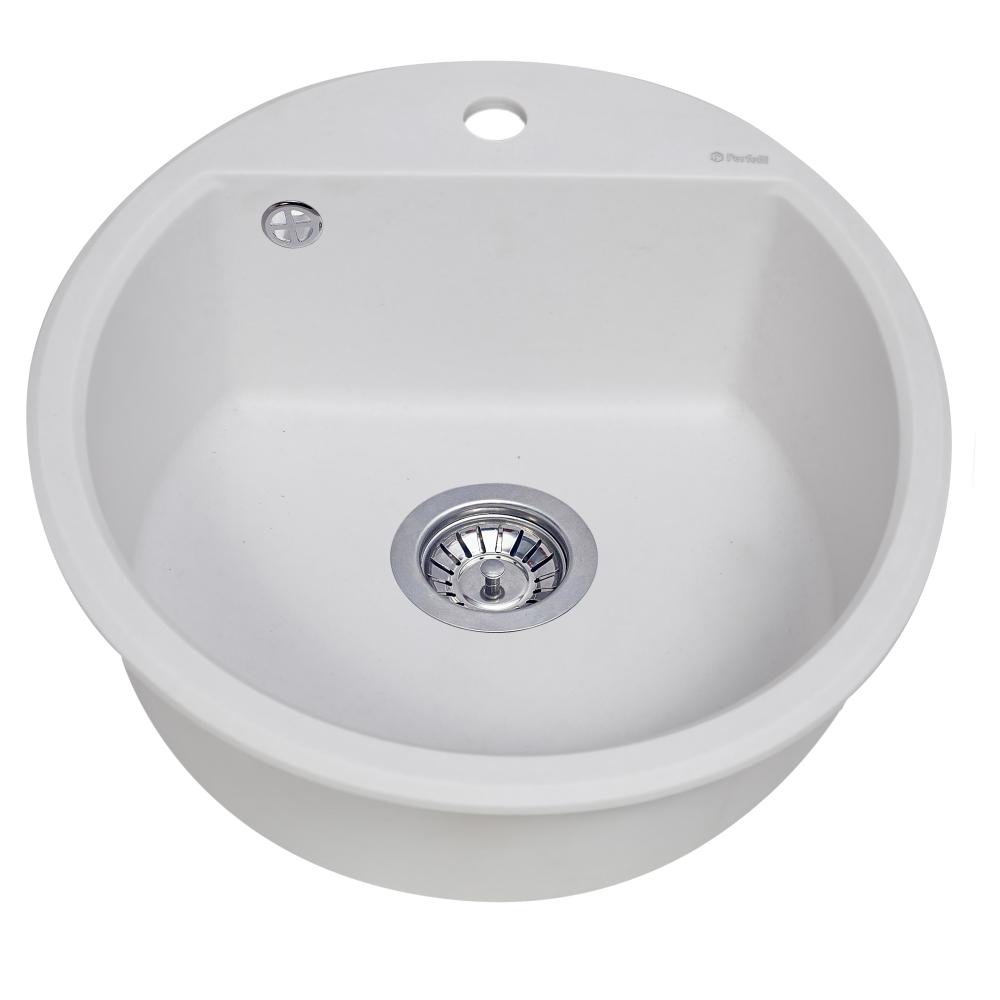 Granite kitchen sink Perfelli ALVA RGA 104-49 WHITE
