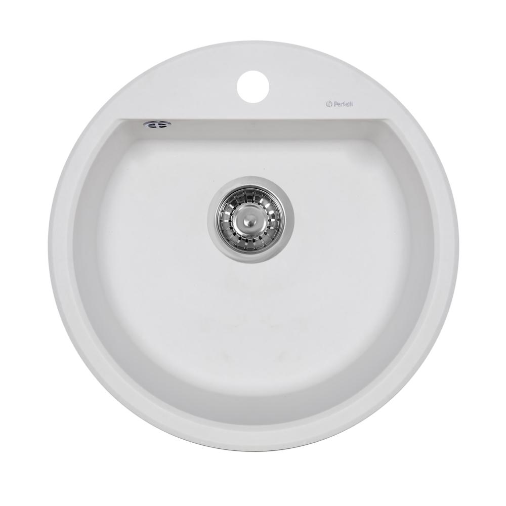 Lavello da cucina in granito Perfelli ALVA RGA 104-49 BIANCO