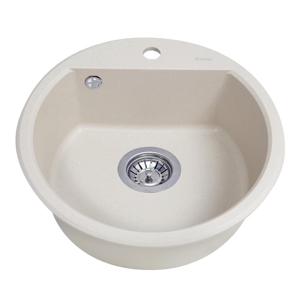 Granite kitchen sink Perfelli ALVA RGA 104-49 LIGHT BEIGE