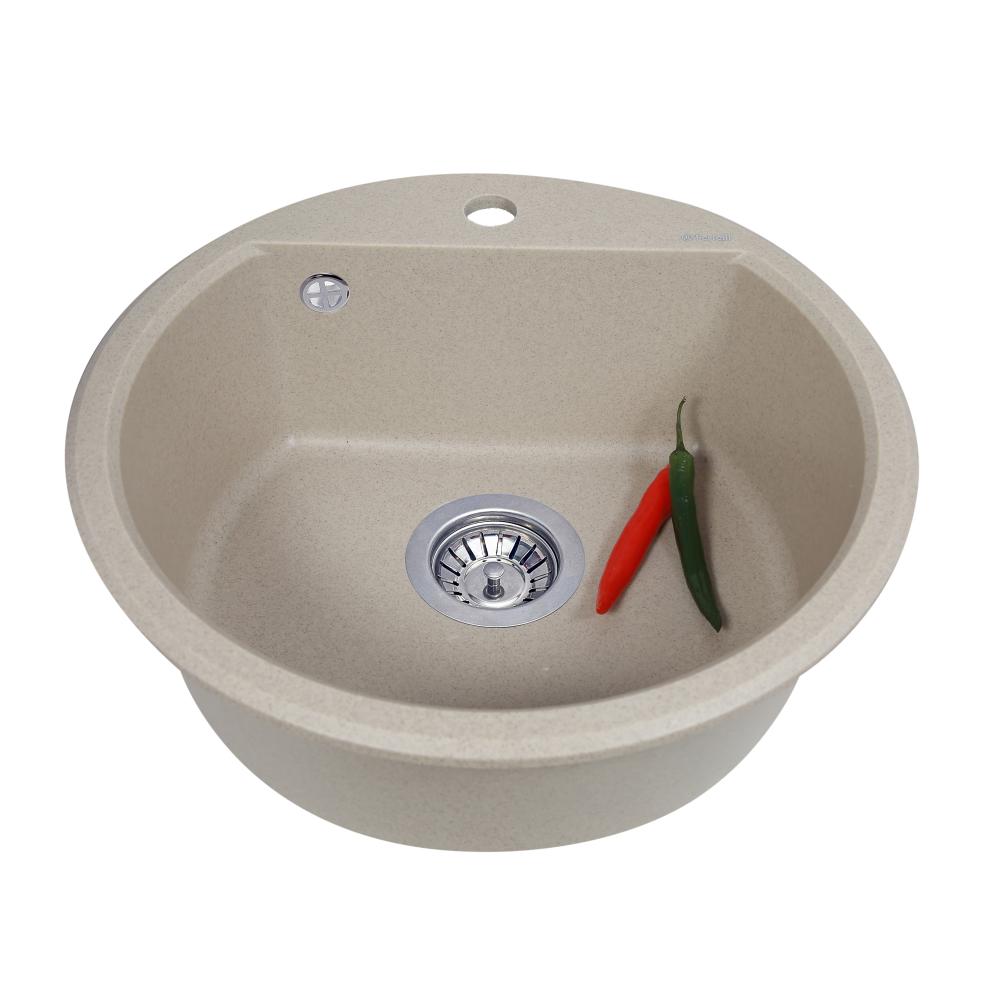 Granite kitchen sink Perfelli ALVA RGA 104-49 SAND
