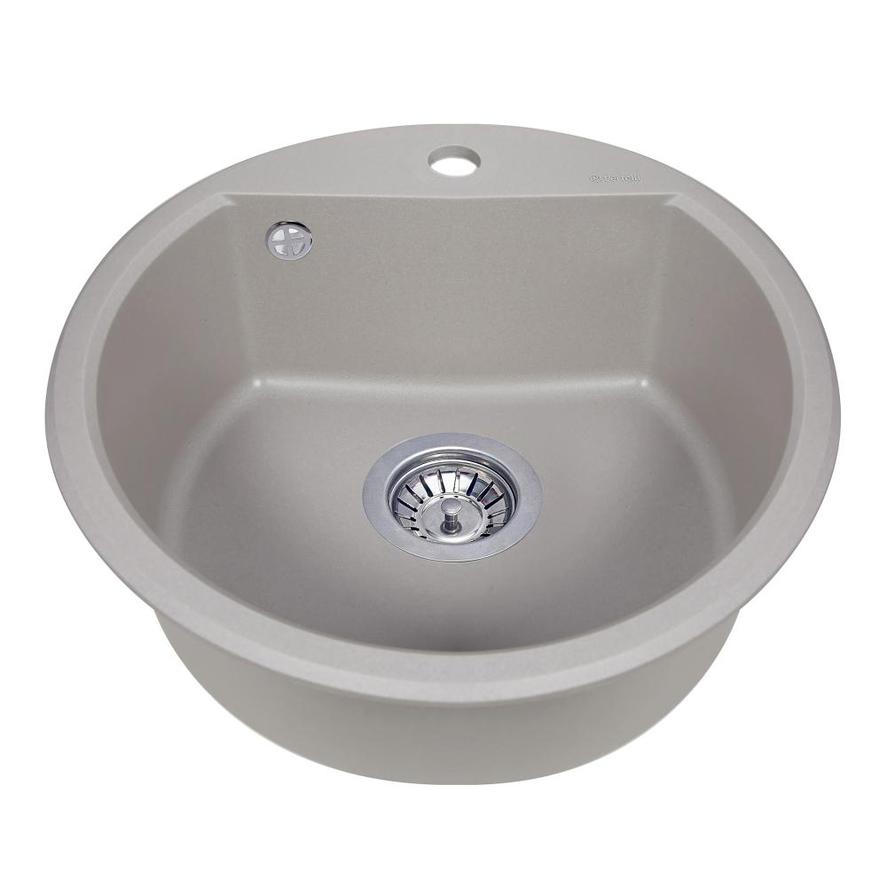 Granite kitchen sink Perfelli ALVA RGA 1041-49 GREY METALLIC