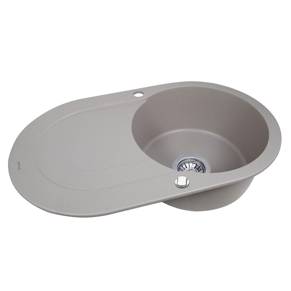 Lavello da cucina in granito Perfelli ORVIETTO OGO 1114-78 GREY METALLIC