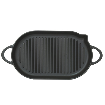 Cast-iron oval pan grill...