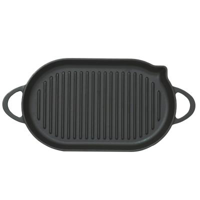 Ghisa pan griglia ovale...