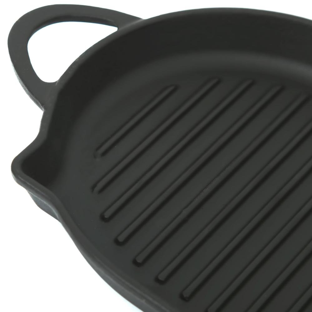 Cast-iron oval pan grill Perfelli 5690 33x20 cm.