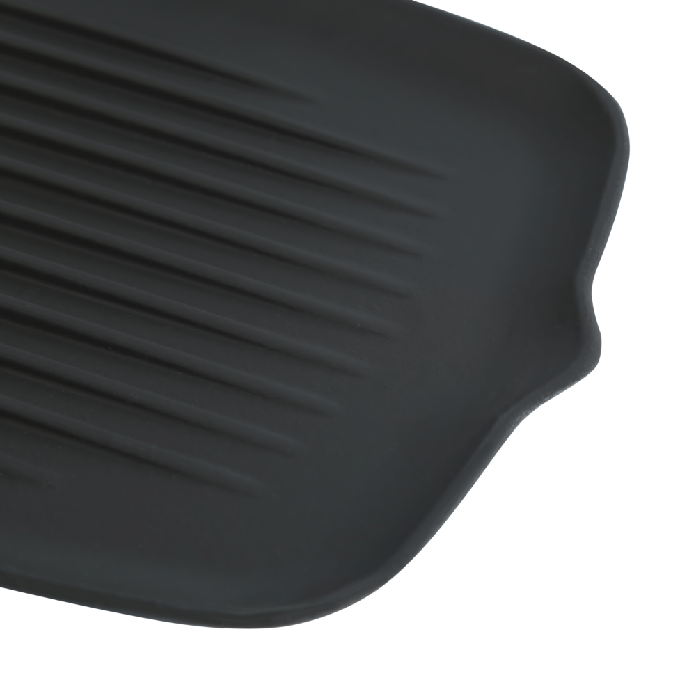 Чугунная плоская сковорода гриль Perfelli 6459 32х22 см.