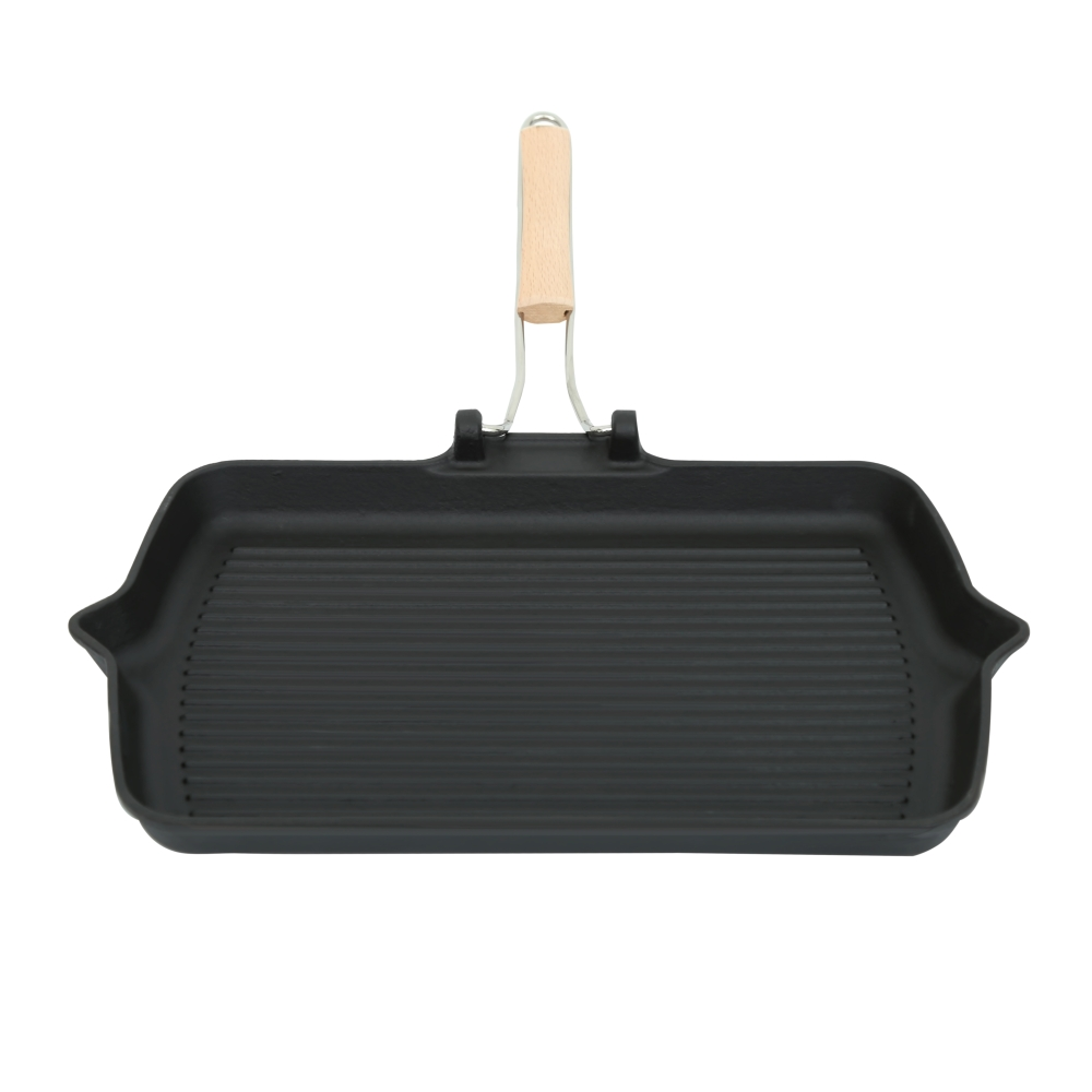 Cast-iron frying pan with a portable handle Perfelli 5691 33x22 cm.
