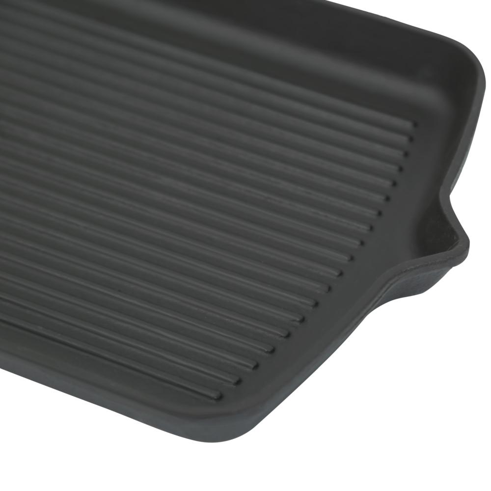 Чугунная сковорода с портативной ручкой Perfelli 5691 33х22 см.