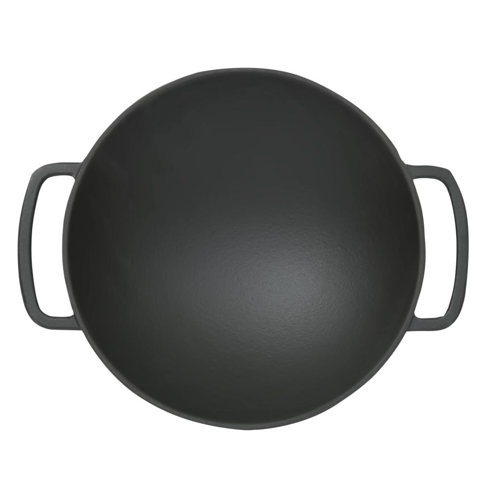 Чугунная сковорода WOK Perfelli 5655 28 см.