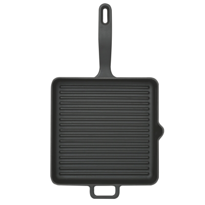 Cast-iron square grill pan...