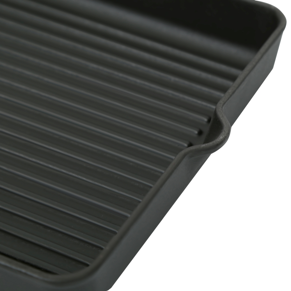 Чугунная квадратная сковорода гриль Perfelli 5660 25x25 см.