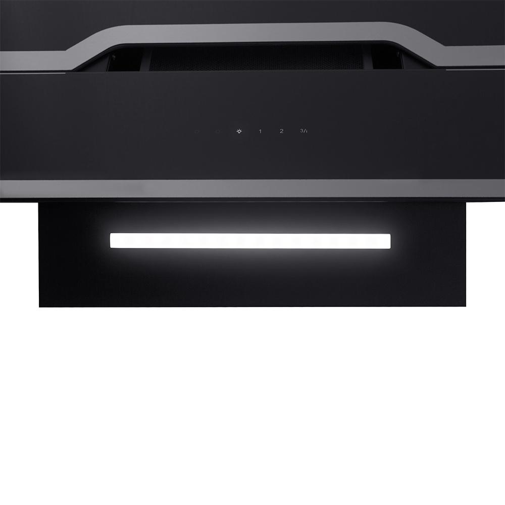 Вытяжка декоративная наклонная Perfelli DNS 6733 B 1100 BL/I LED Strip