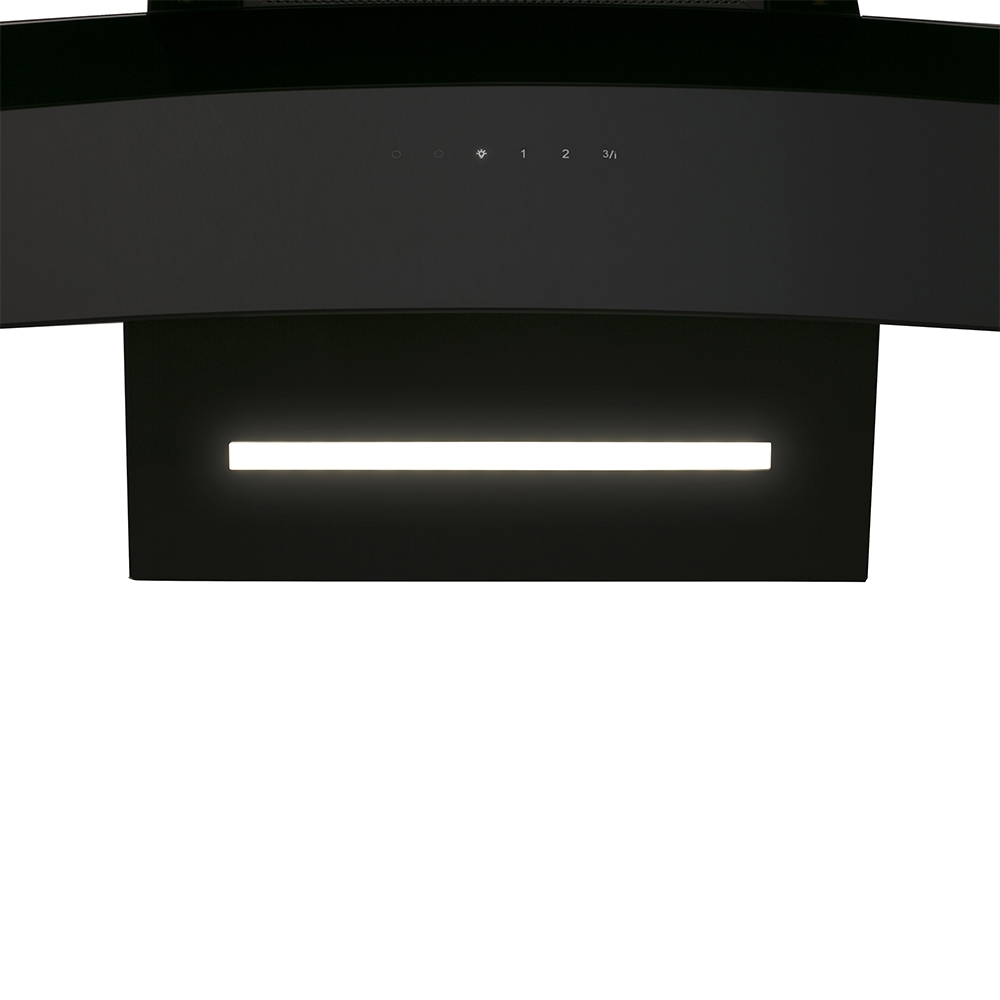 Decorative Incline Hood Perfelli DNS 6763 B 1100 BL LED Strip