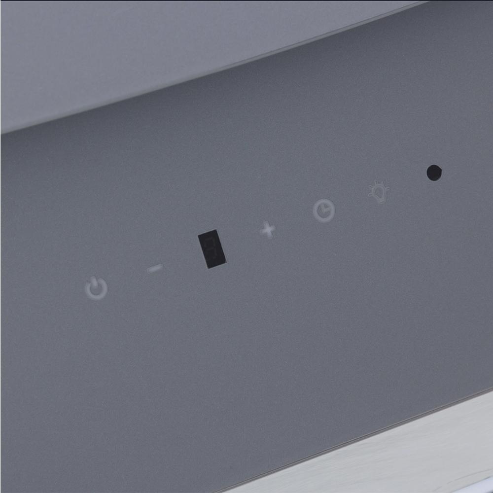 Вытяжка декоративная наклонная Perfelli DNS 6743 B 1100 GR LED Strip
