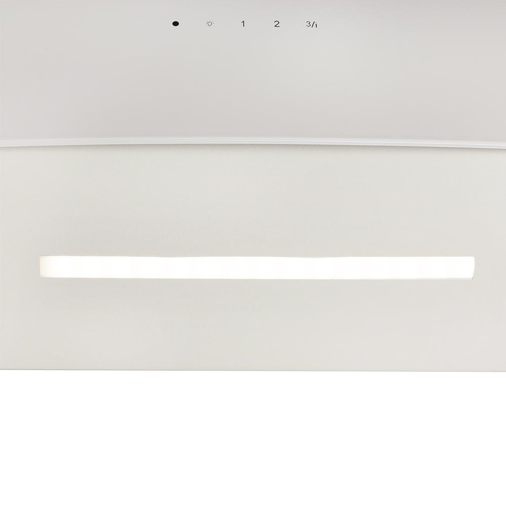 Вытяжка декоративная наклонная Perfelli DNS 6763 B 1100 IV LED Strip