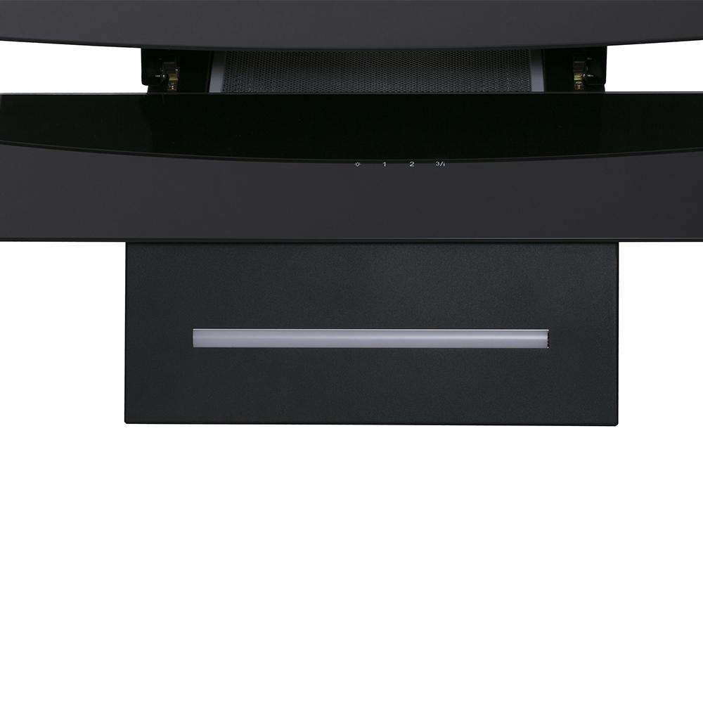 Вытяжка декоративная наклонная Perfelli DNS 6743 B 1100 BL LED Strip