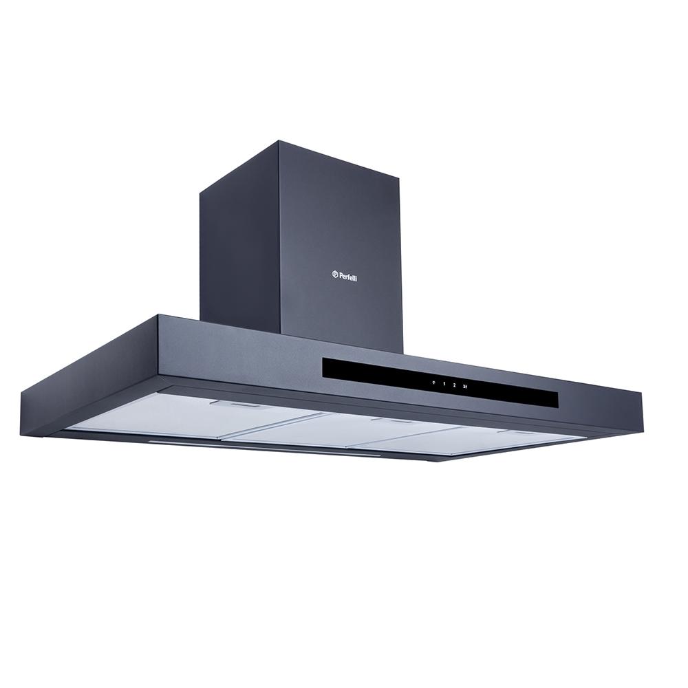 Hood decorative T-shaped Perfelli TS 9723 B 1100 BL LED Strip