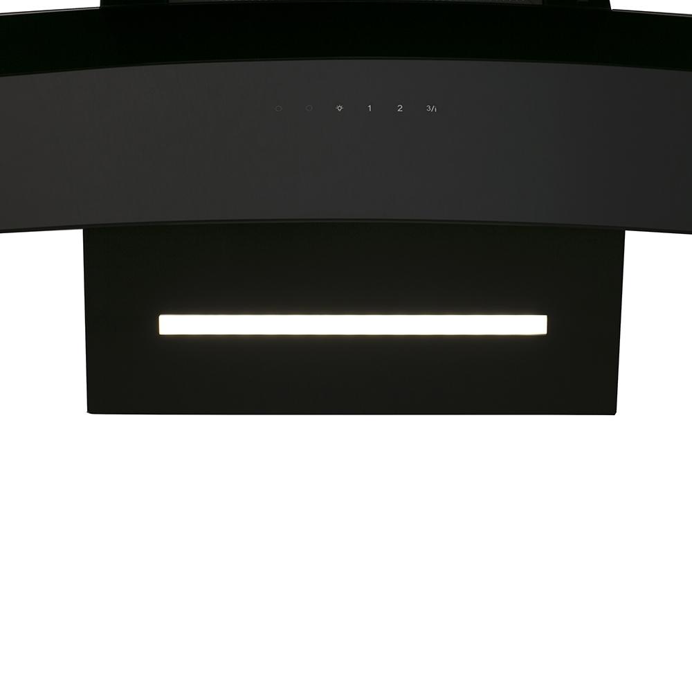 Вытяжка декоративная наклонная Perfelli DNS 6363 B 750 BL LED Strip