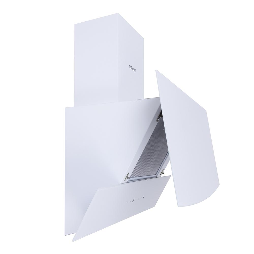 Вытяжка декоративная наклонная Perfelli DNS 6743 B 1100 WH LED Strip