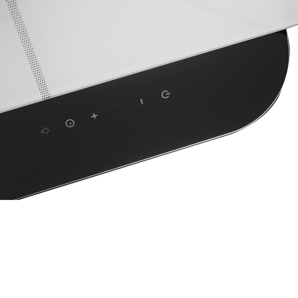Вытяжка декоративная наклонная Perfelli DNS 9753 B 1100 WH/BL LED Strip