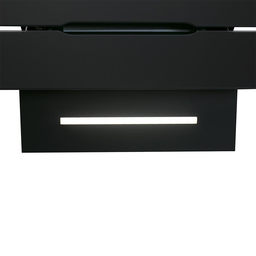 Вытяжка декоративная наклонная Perfelli DNS 9793 B 1100 BL LED Strip