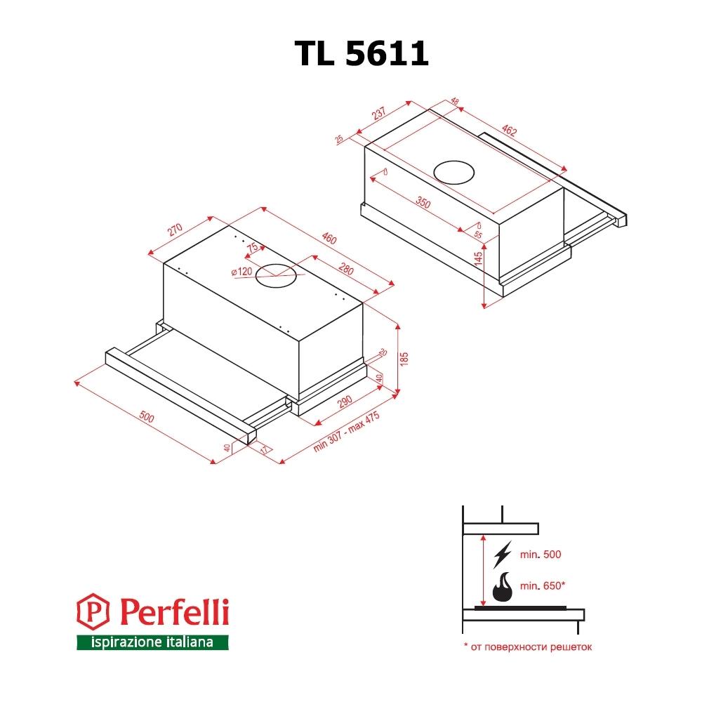 Вытяжка телескопическая Perfelli TL 5611 IV