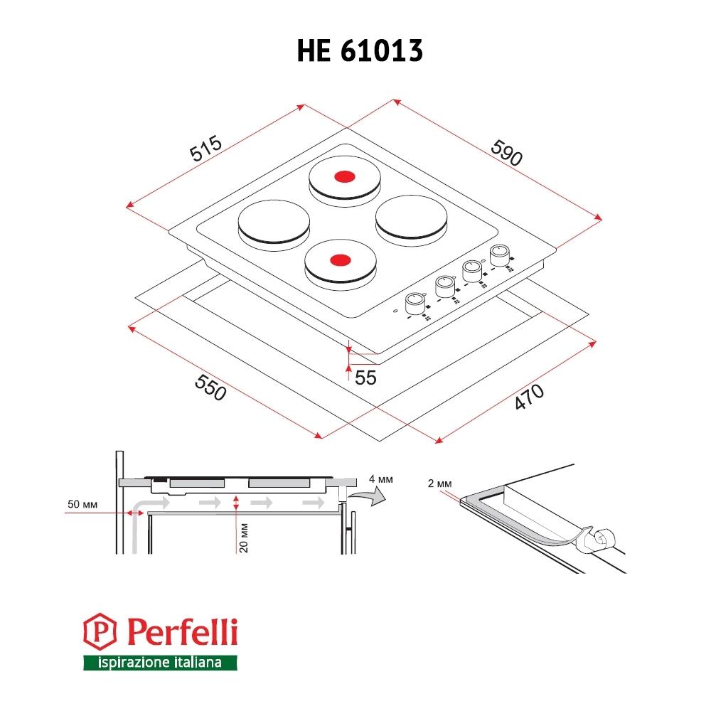 Поверхность электрическая традиционная Perfelli HE 61013 WH
