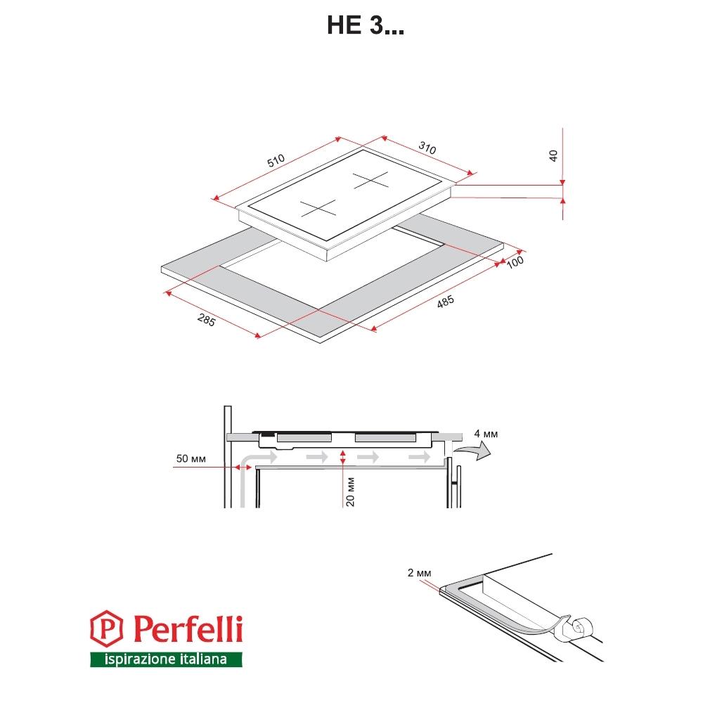 Поверхность электрическая Domino Perfelli HE 310 I