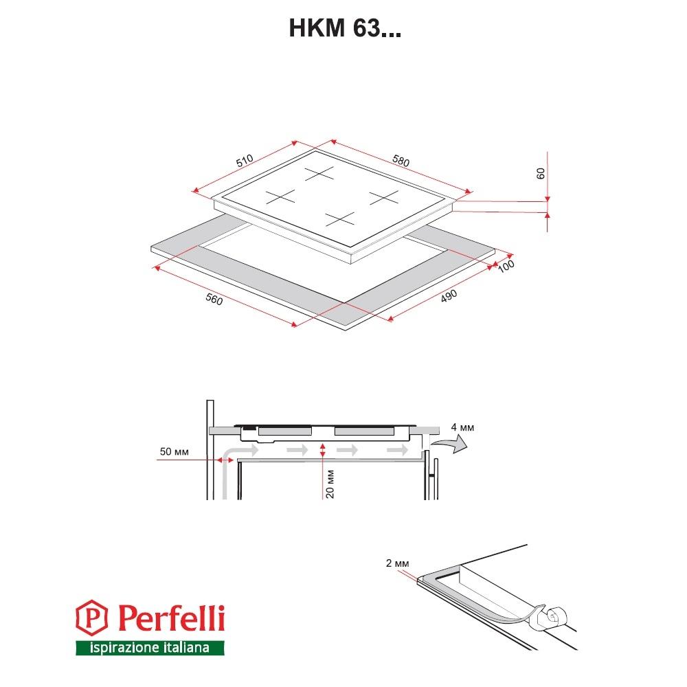 Combined surface Perfelli HKM 639 W