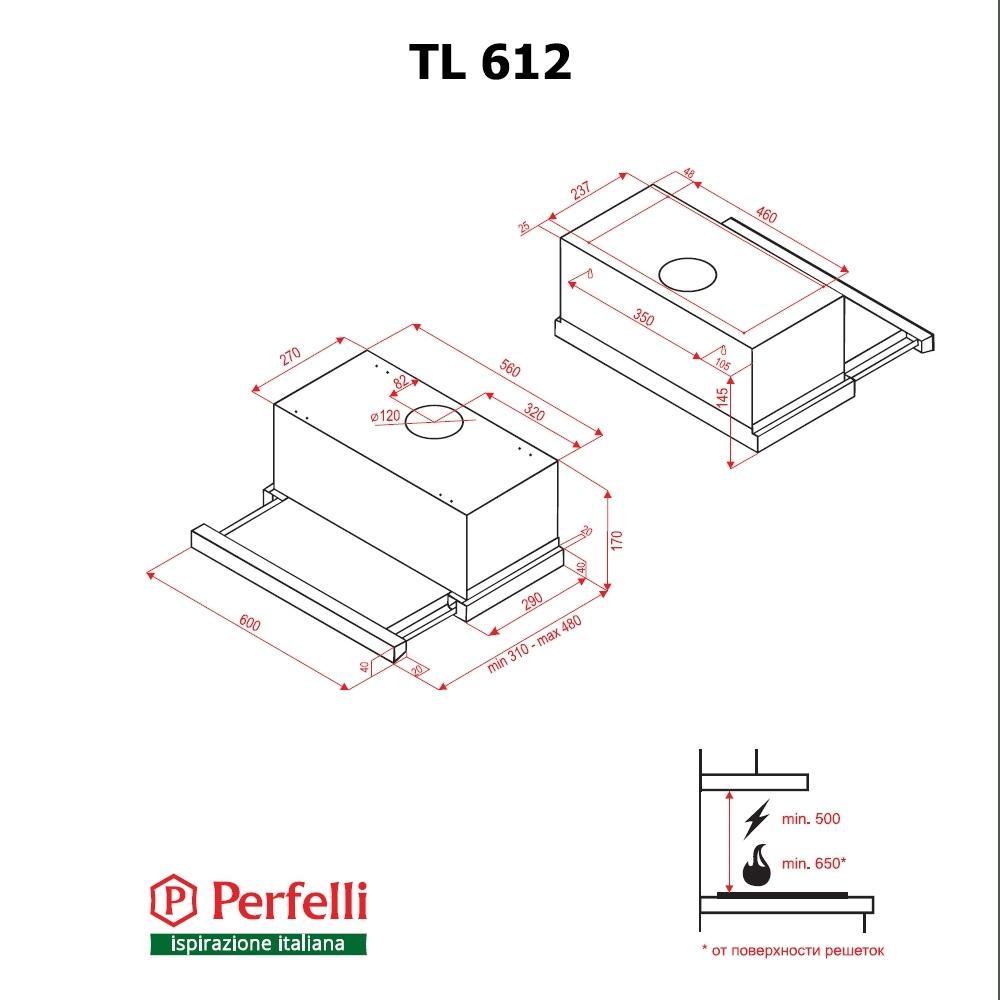 Вытяжка телескопическая Perfelli TL 612 IV