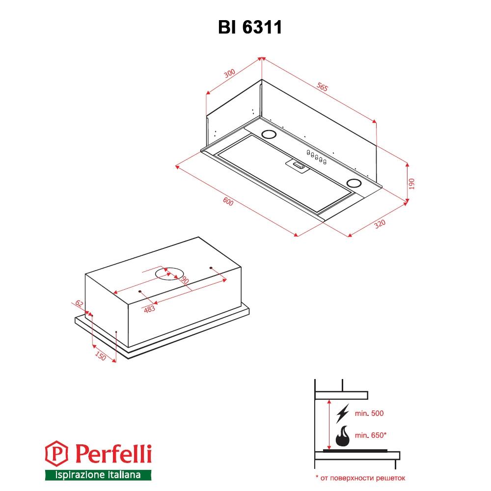 Fully built-in Hood Perfelli BI 6311 I