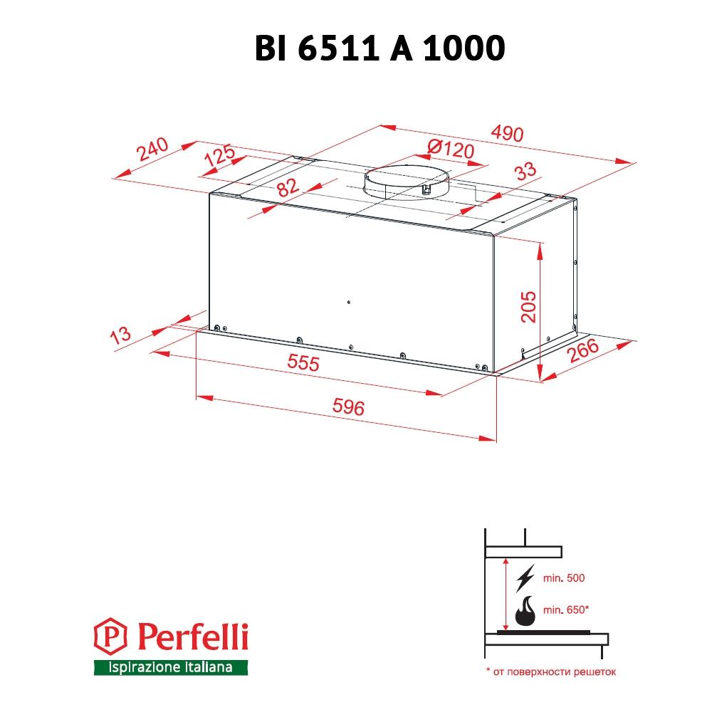 Fully built-in Hood Perfelli BI 6511 A 1000 I