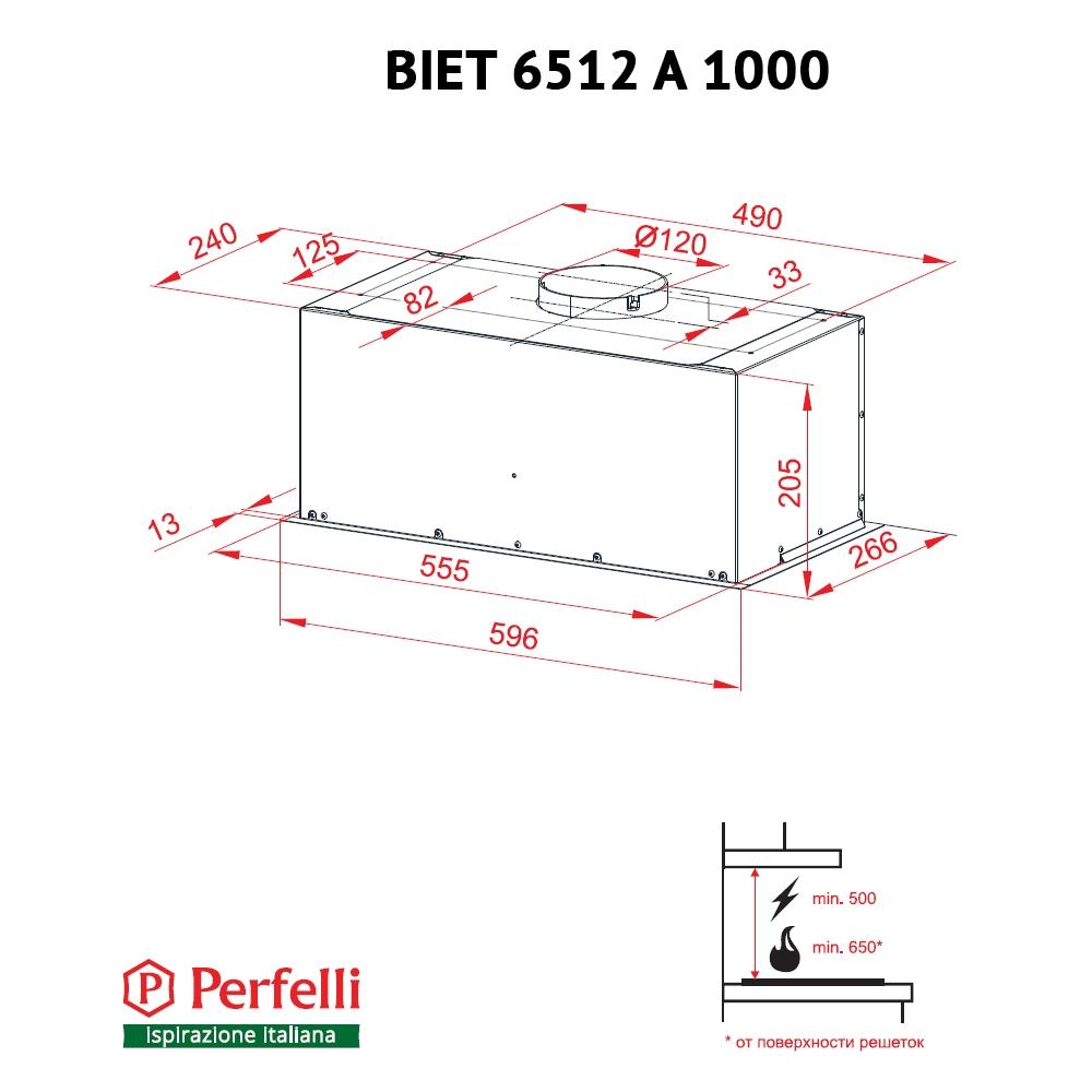 Fully built-in Hood Perfelli BIET 6512 A 1000 BL LED