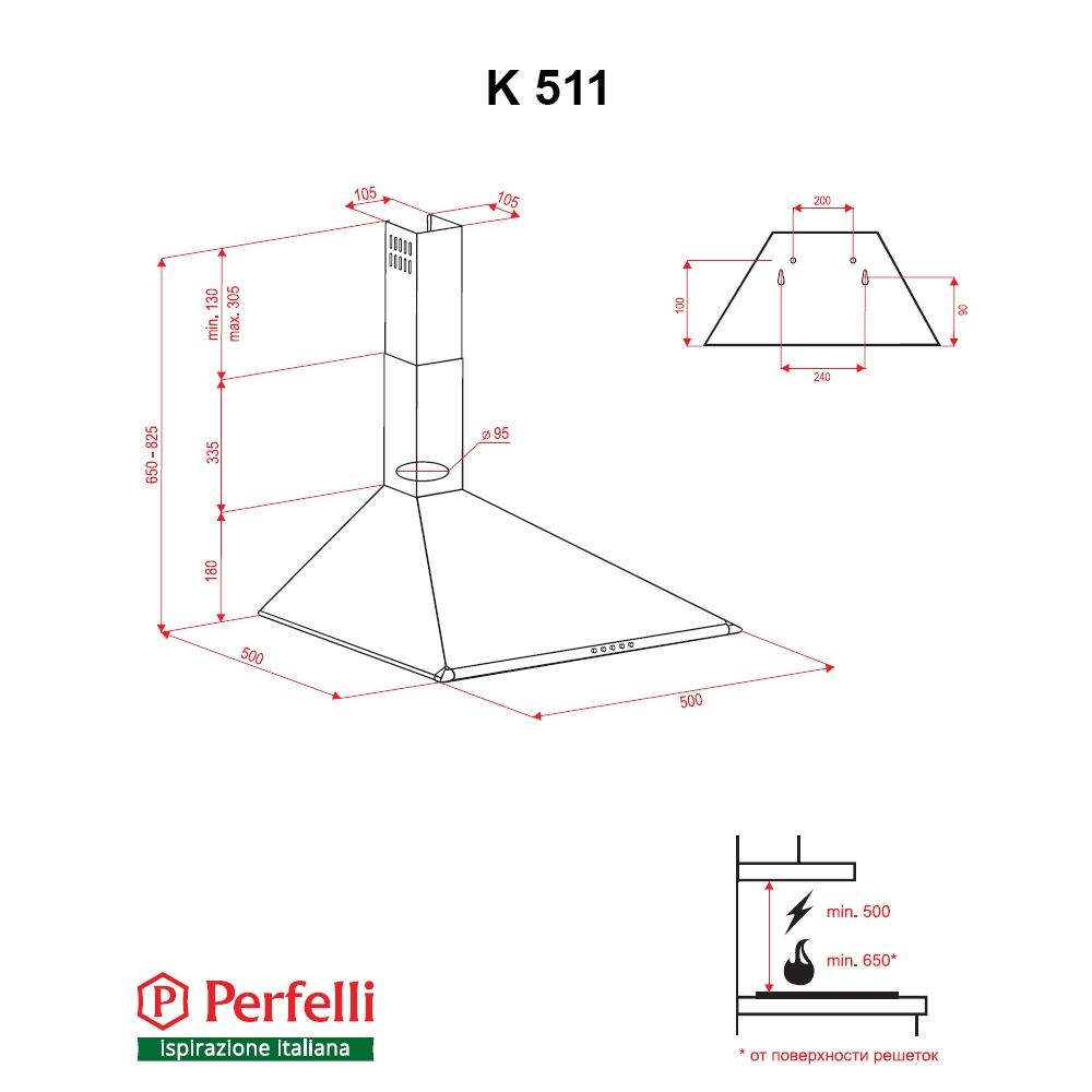 Dome hood Perfelli K 511 W