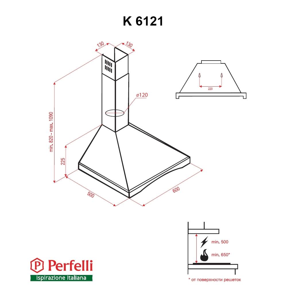 Вытяжка купольная Perfelli K 6121 IV Wood