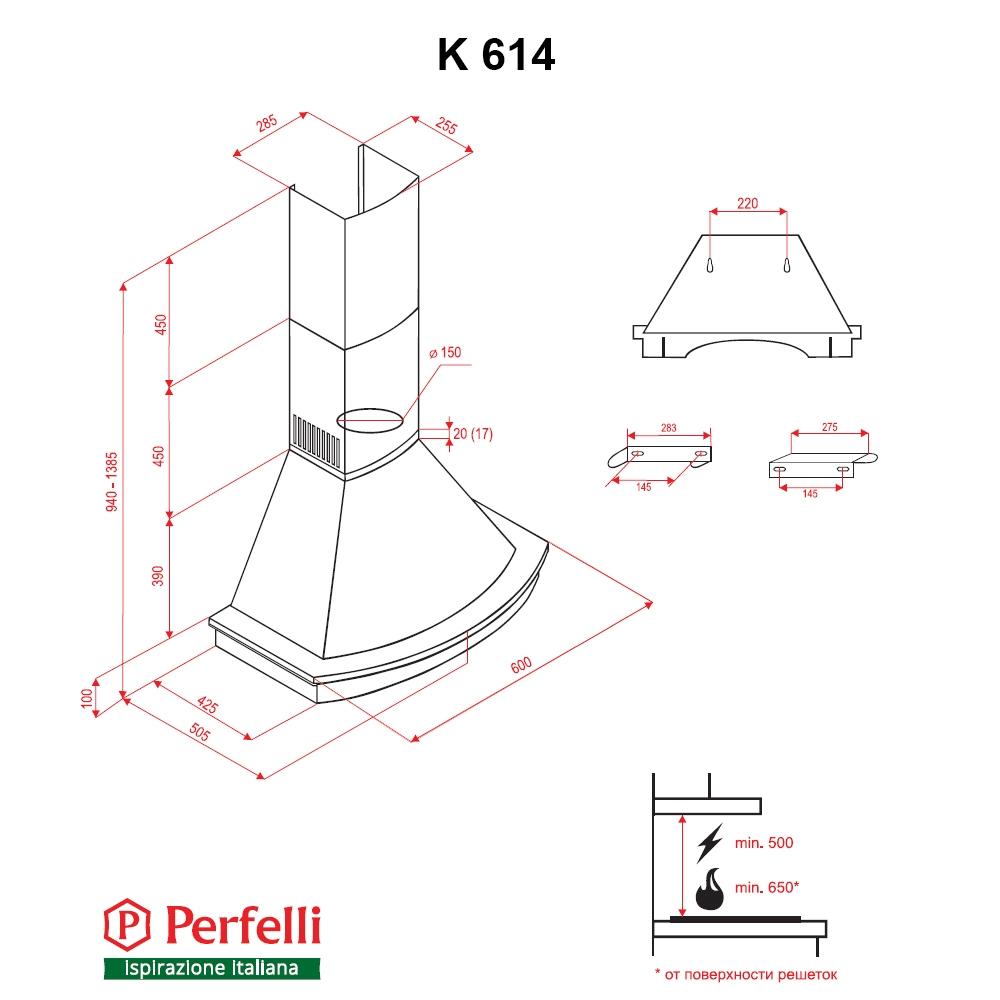 Dome hood Perfelli K 614 Ivory Country LED