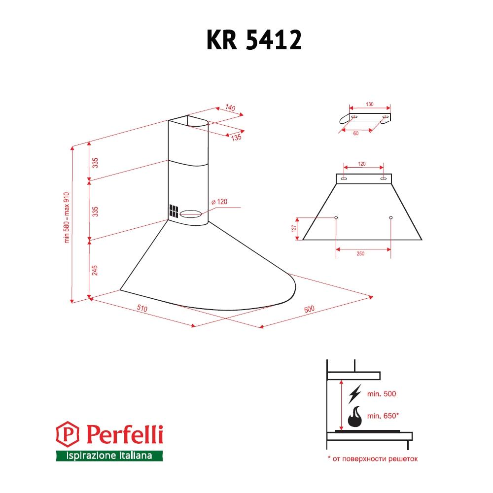 Dome hood Perfelli KR 5412 W LED