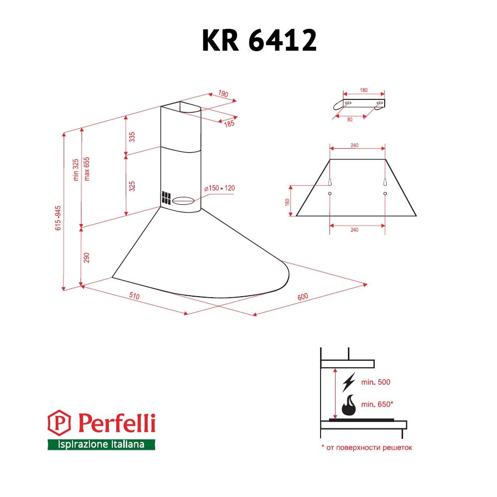 Dome hood Perfelli KR 6412 W LED