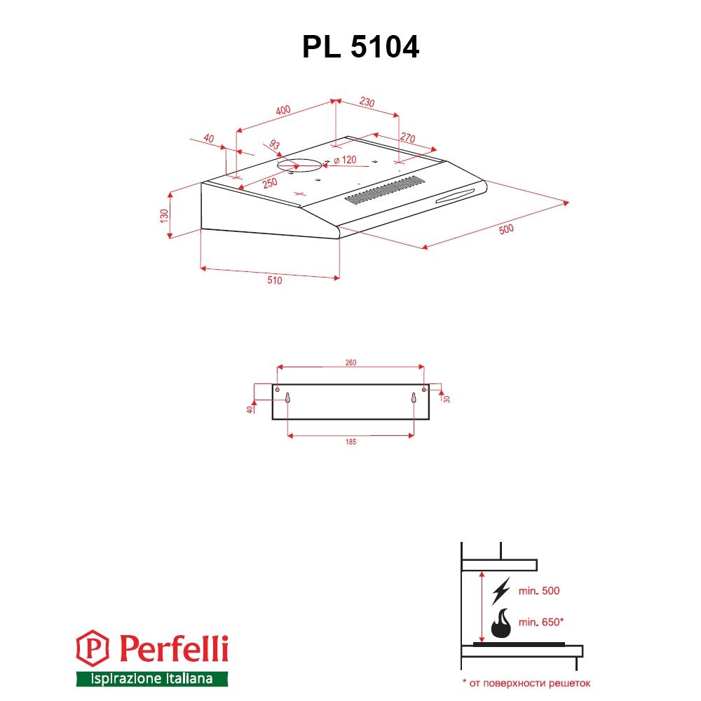 Flat Hood Perfelli PL 5104 IS