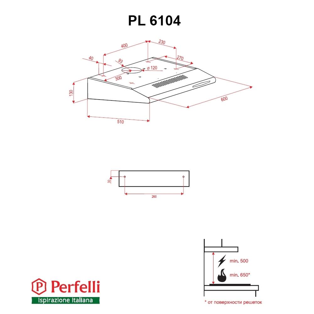 Вытяжка плоская Perfelli PL 6104 IS