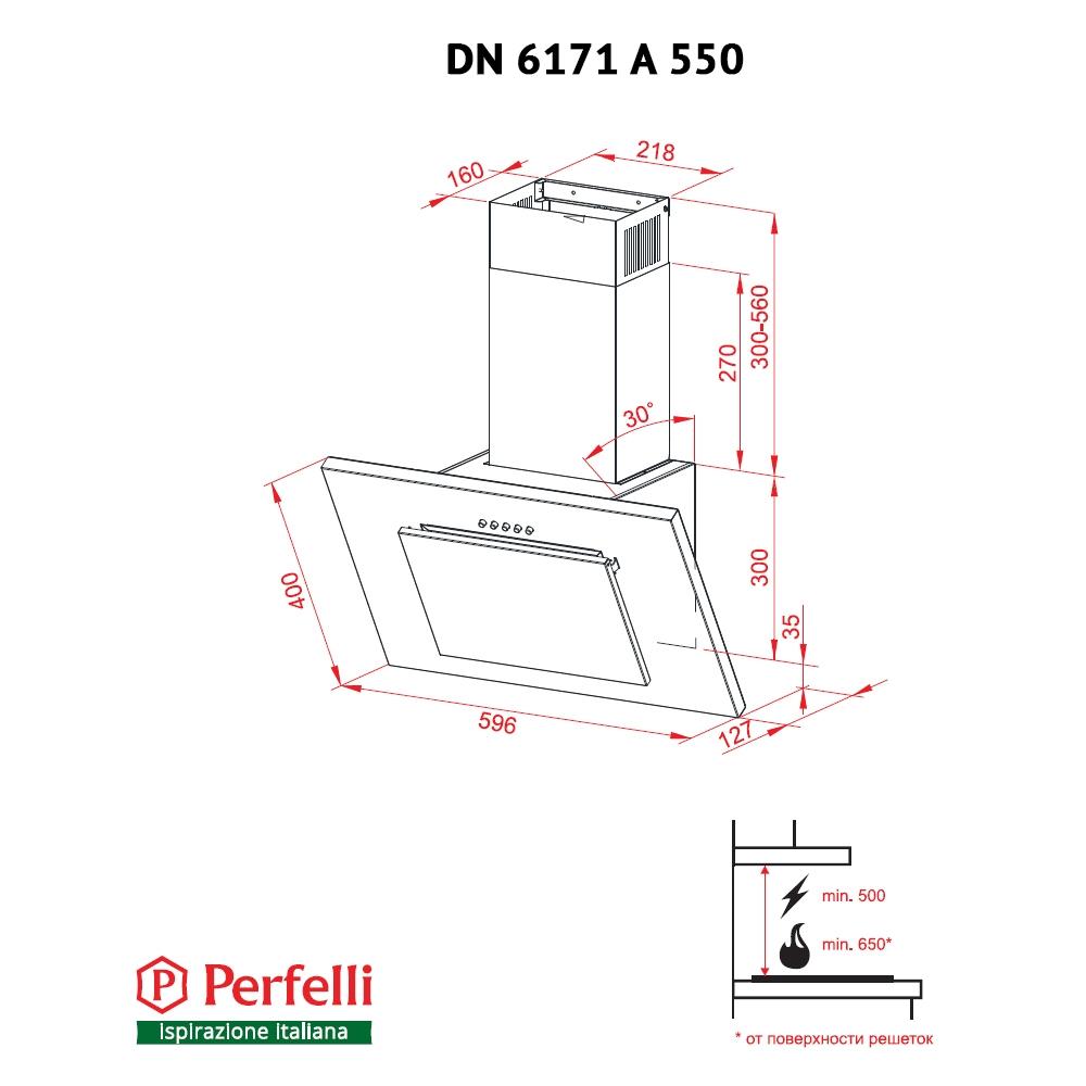 Decorative Incline Hood Perfelli DN 6171 A 550 IV
