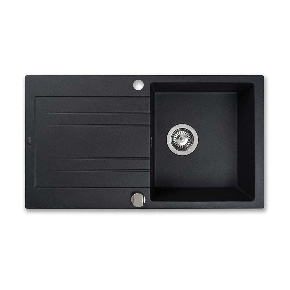 Мийка кухонна гранітна  Perfelli FIORA PGF 114-78 BLACK