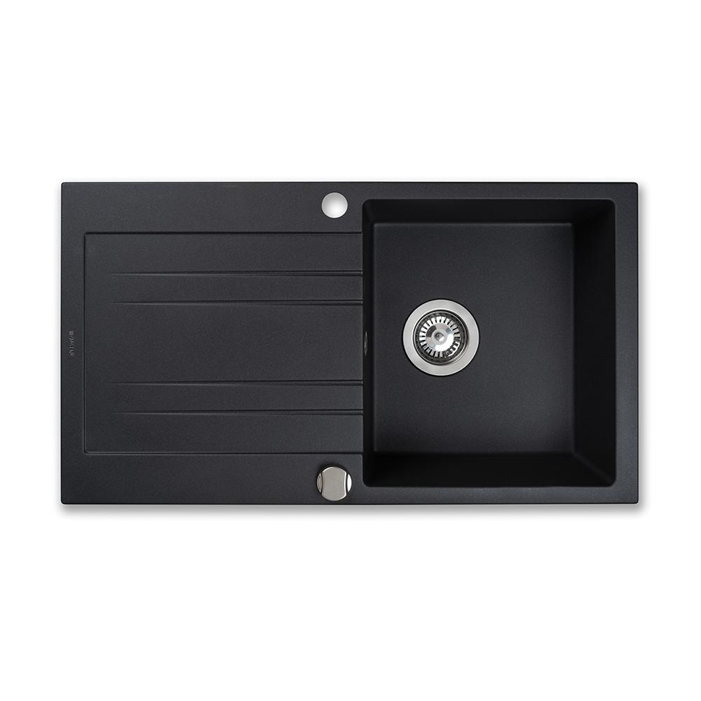 Granite kitchen sink Perfelli FIORA PGF 114-78 BLACK