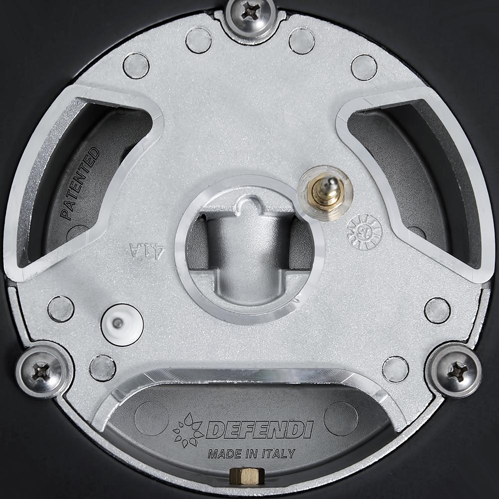 Gas surface on glass Perfelli design HGV 6430 NERO Venere