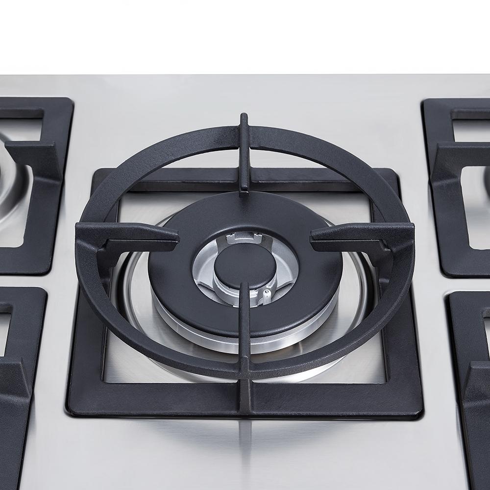 Поверхность газовая на металле Perfelli design HGM 7540 INOX SLIM LINE